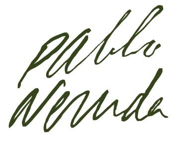 Firma Pablo Neruda.