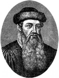 Johannes Gutenberg.